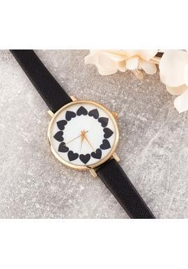 Dámske hodinky so srdiečkami v modrej farbe