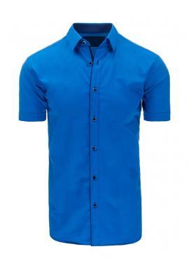 Pánske moderné košele s krátkym rukávom v modrej farbe