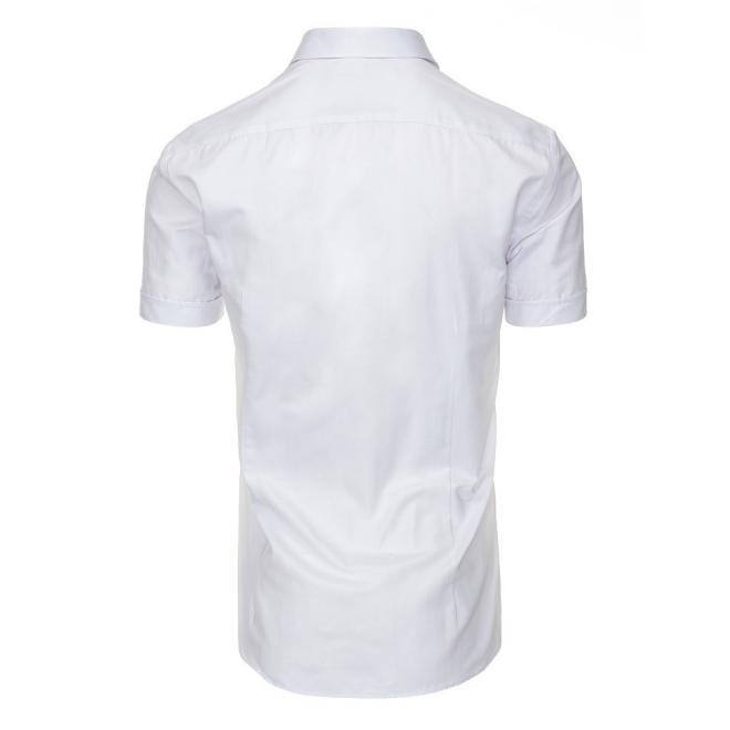 5f5b1ba6034c Elegantné pánske košele bielej farby so svetlomodrým lemom ...