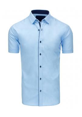 Pánska klasická košeľa s krátkym rukávom vo fialovej farbe