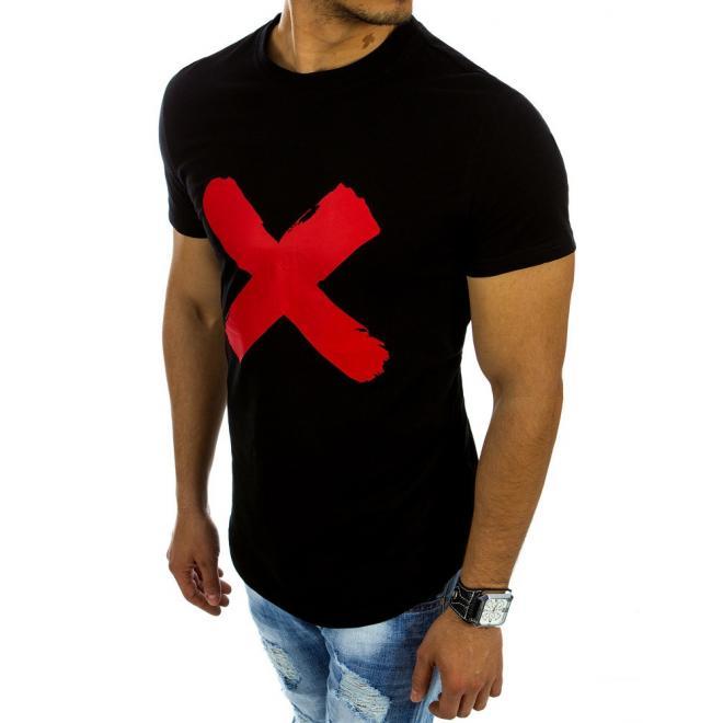 8e0370df3fca5 Pánske športové tričko čiernej farby s krátkym rukávom - skvelamoda.sk