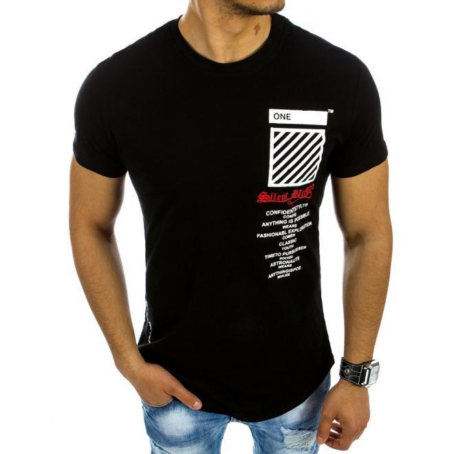 0a2058be8046 Pánske bavlnené tričká čiernej farby s potlačou. Sivé bavlnené tričko s  potlačou pre pánov