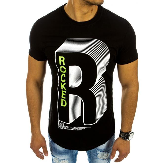 0bea38c894000 Čierne bavlnené tričká s krátkym rukávom pre pánov - skvelamoda.sk