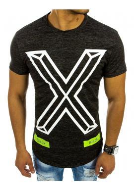 c5610f4d5 Moderné pánske tričká s potlačou v tmavosivej farbe - skvelamoda.sk