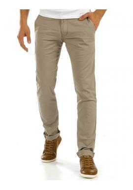 Nohavice Chinos pre pánov v béžovej farbe