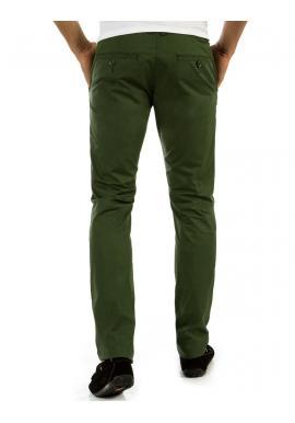 Pánske nohavice tmavomodrej farby v elegantnom štýle