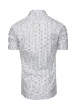 Svetlomodrá vzorovaná košeľa s krátkym rukávom pre pánov