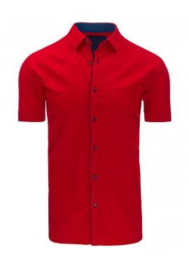 Pánska elegantná košeľa so vzorom v modrej farbe