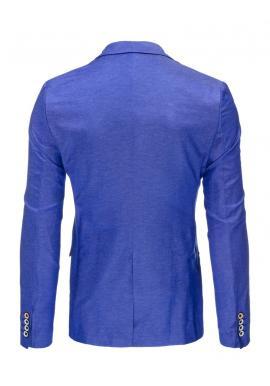 Pánske neformálne sako s ozdobným odznakom v sivej farbe