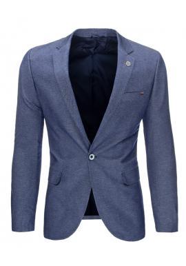 Tmavosivé jednoradové sako v neformálnom štýle pre pánov