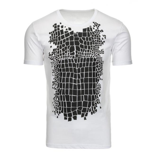 ec27026f29a1 Pánske štýlové tričká s potlačou v bielej farbe - skvelamoda.sk