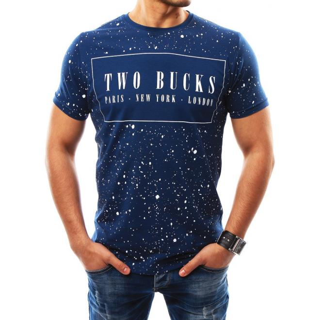 83b56041986b Modré moderné tričko s krátkym rukávom pre pánov - skvelamoda.sk