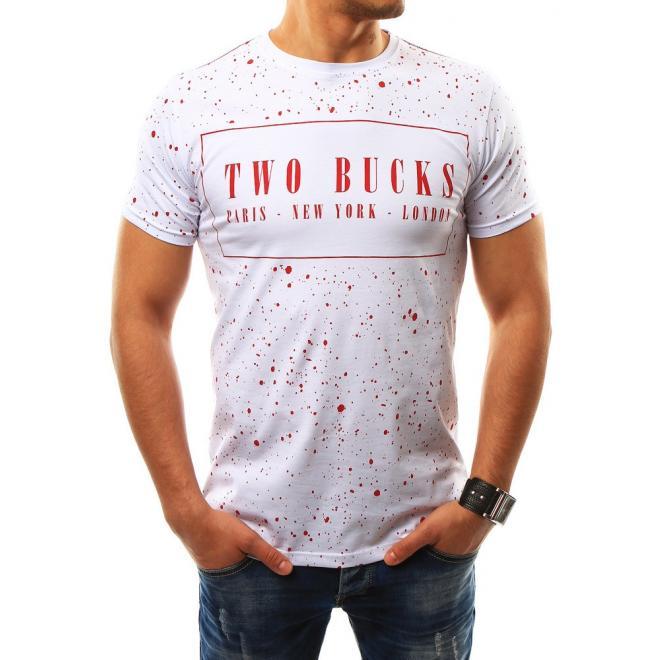 f84c7a4c3044 Moderné pánske tričko bielej farby s krátkym rukávom. Modré moderné tričko  s krátkym rukávom pre pánov