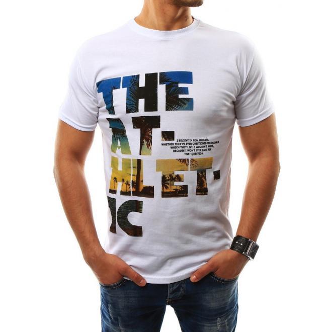 6fb21194e87fd Biele bavlnené tričko s nápisom pre pánov - skvelamoda.sk