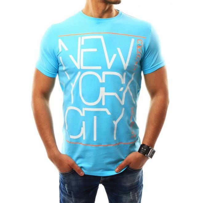 419539a67e93 Športové pánske tričko svetlomodrej farby s nápisom. Tmavomodré športové  tričko s nápisom pre pánov