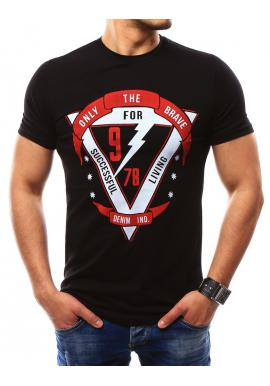 a7b741094b20 Tmavomodré moderné tričko s potlačou pre pánov ...