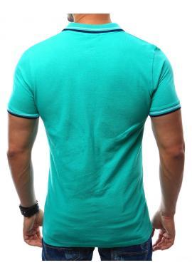 Bavlnená pánska polokošeľa modrej farby s výšivkou