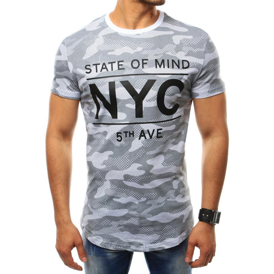 75aca2aab40a Maskáčové pánske tričko tmavomodrej farby s krátkym rukávom. Loading zoom