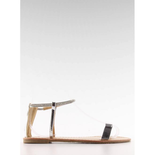 6e54a88c092cd Elegantné dámske sandále striebornej farby s kamienkami - skvelamoda.sk