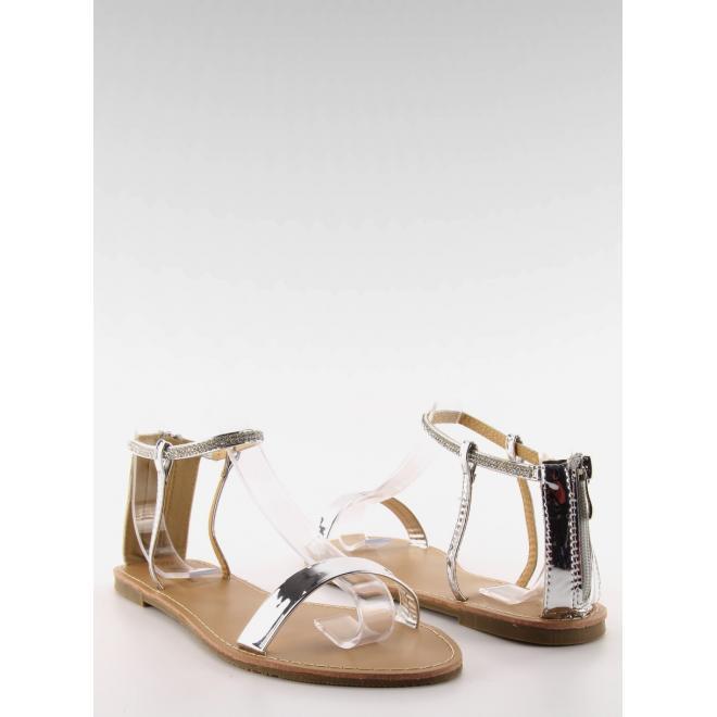 3d2cbcf426e1 Elegantné dámske sandále striebornej farby s kamienkami - skvelamoda.sk