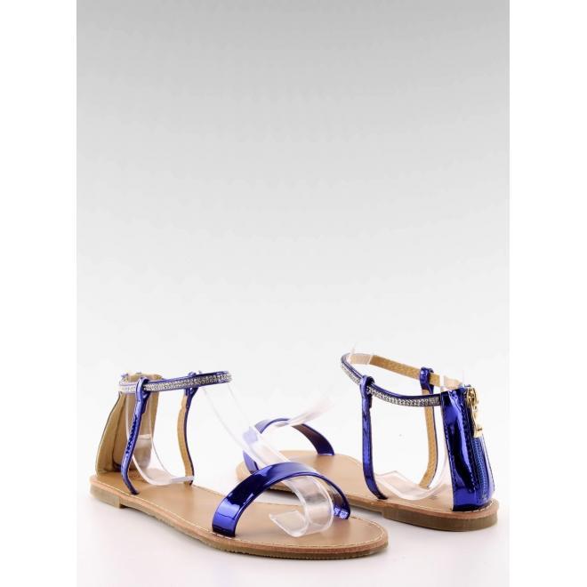 186aef1f3264 Dámske elegantné sandále s kamienkami v modrej farbe - skvelamoda.sk