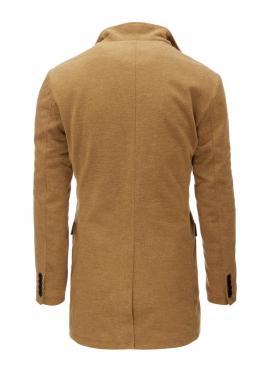 Dlhší pánsky kabát čiernej farby s kapucňou