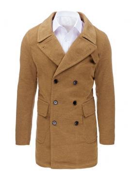 Pánsky dvojradový kabát na zimu v čiernej farbe
