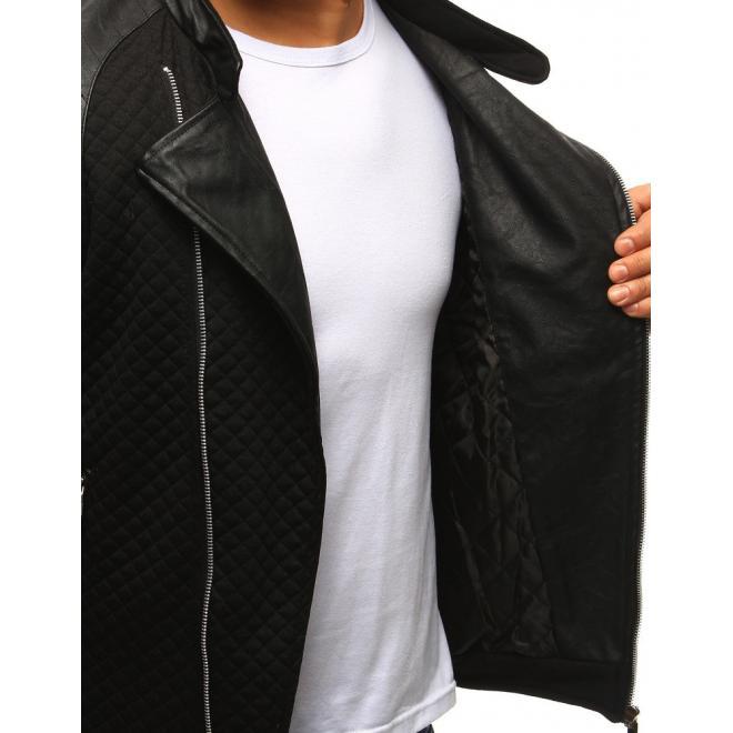 Prešívaná pánska bunda v sivej farbe na prechodné obdobie
