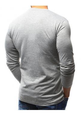 Klasické pánske tričko bielej farby s dlhým rukávom