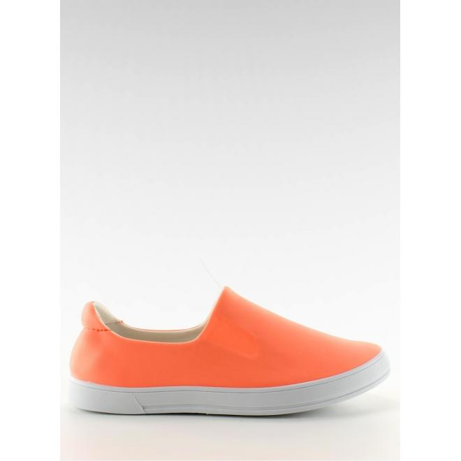 Dámske štýlové mokasíny - oranžové
