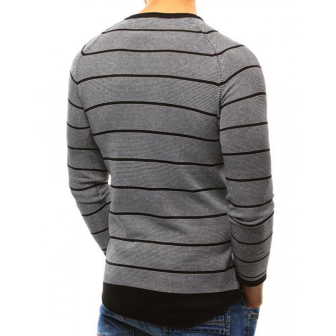 Pánsky klasický sveter v sivej farbe