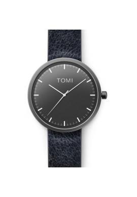 Pánske módne hodinky Tomi s čiernym ciferníkom v čiernej farbe