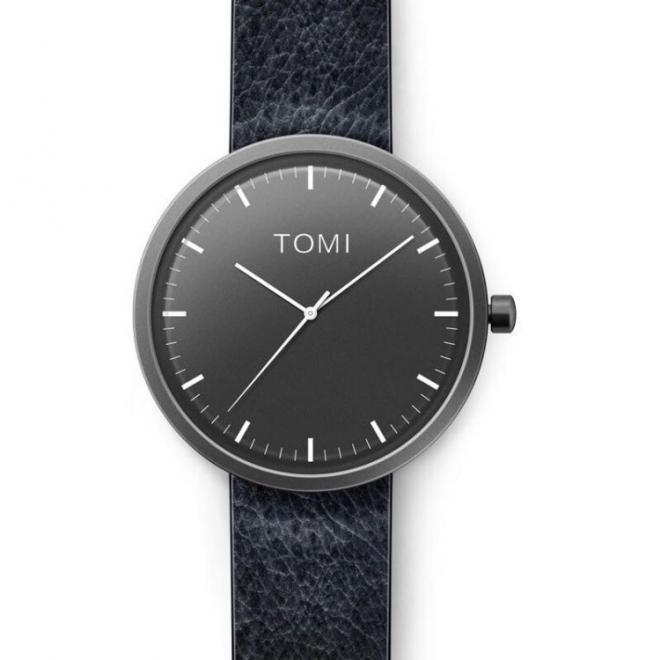 80895665be Pánske hodinky Tomi s čiernym ciferníkom v čiernej farbe - skvelamoda.sk