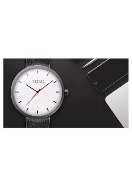 Pánske hodinky Tomi s čiernym ciferníkom v čiernej farbe