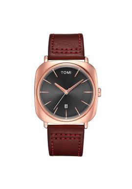 Retro hodinky Tomi pre pánov v čiernej farbe