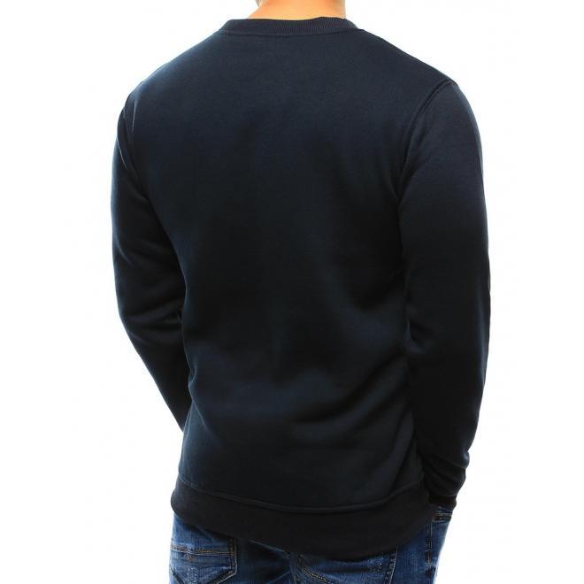 Pánska mikina v čiernej farbe bez kapucne